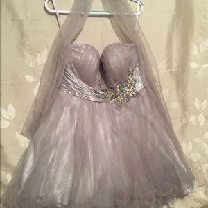 Dress with diamonds